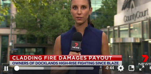 News story about liability for cladding fire